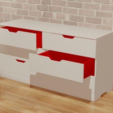 Les trois crapauds, ligne de meuble, 2012