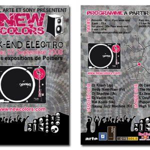 Exercice, Flyer pour concert electro.