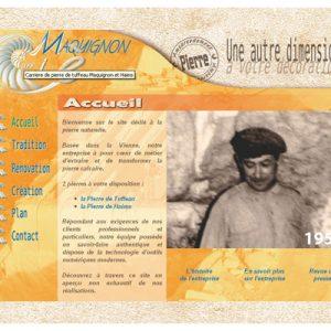 Site internet pour Les carrières Maquigon
