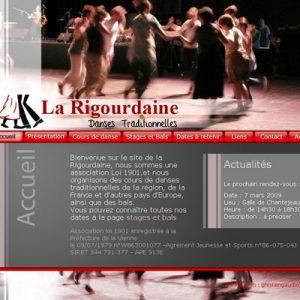 Stage : Réalisation d'un site pour la Rigourdaine, association de danse traditionnel.