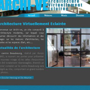 Exercice, site web d'architecture.