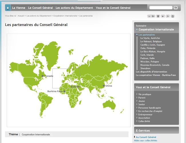 Carte partenaires de la vienne, zoom et infos, flash