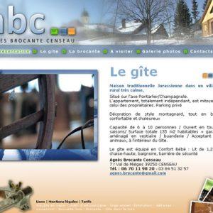 Stage chez Cocoon, Webdesigne et développement du site ABC Brocante, pour une maison d'hote, qui fait aussi brocante.