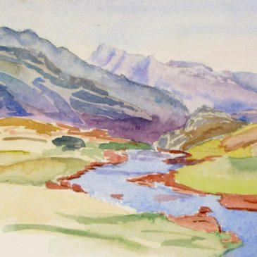 Aquarelles, paysages des Pyrénées, 2000